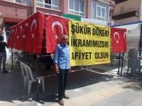 HAMDOLSUN - Seçimleri Erdoğan Kazanınca 'Şükür Döneri' Dağıttı