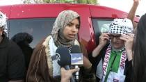 Filistinli Genç Kadından 'Han El-Ahmer Bizim Kalacak' Mesajı