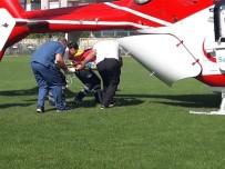 AKDENIZ ÜNIVERSITESI - Hava Ambulansı, Minik Tevfik İçin Havalandı