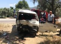 SELIMIYE - Milas'ta Ağaca Çarpan Araç Takla Attı; 1'İ Ağır, 2 Yaralı