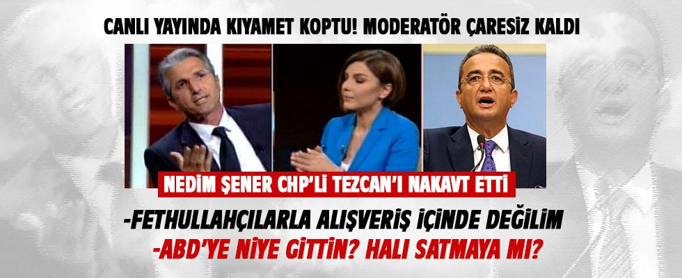 Nedim Şener'le CHP'li Bülent Tezcan canlı yayında birbirine girdi