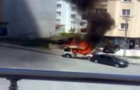 ALSANCAK - Başkent'te Araç Yangını Korkuttu