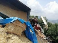 YEŞILYAYLA - Buğday Ve Saman Yüklü Traktör Devrildi Açıklaması 1 Yaralı