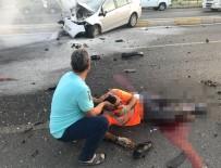 İSABEYLI - Otomobilin Çarptığı Temizlik İşçisinin Bacağı Koptu