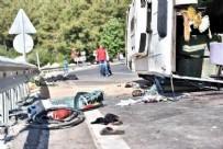 ARSLANKÖY - Bu sabah feci kaza: 3 ölü, çok sayıda yaralı