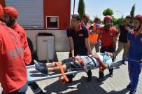 EMNİYET TEŞKİLATI - Besni Devlet Hastanesinde Ki Tatbikat Gerçeği Aratmadı
