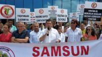 SAĞLIK ÇALIŞANLARI - Samsun'da Sağlıkçılar, Sağlıkta Şiddete Tepki İçin Eylem Yaptı