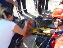 KARAHASANLı - 30 Metrelik Çukura Düşen İnşaat İşçisini İtfaiye Kurtardı