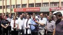 ŞAHINBEY ARAŞTıRMA VE UYGULAMA HASTANESI - Doktorlardan Şiddete Tepki