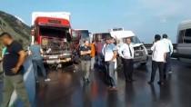 ÇARPMA ANI - GÜNCELLEME - Anadolu Otoyolu'nda Zincirleme Trafik Kazası