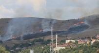 YANGIN HELİKOPTERİ - Karabük'te Korkutan Anız Yangını