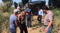 DİREKSİYON - Kaza Yapan Sürücüyü Vatandaşlar Kurtardı