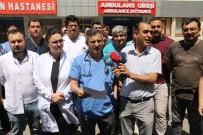 SAĞLIK ÇALIŞANLARINA ŞİDDET - Sağlıkçılara Şiddete Gaziantep'te Tepki