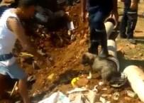 KÖPEK - Su Borusunda Mahsur Kalan Yavru Köpek Kurtarıldı