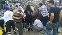 DİREKSİYON - Takla Atan Traktörde Sıkışan Baba Ve Kızını Afad Kurtardı