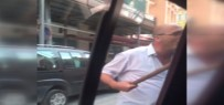 TAKSİ ŞOFÖRÜ - Taksici'den Uber Aracına Sopalı Saldırı