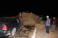 MUSTAFA YıLDıRıM - Traktör Ve İki Otomobilin Karıştığı Kazada 2'Si Ağır 5 Kişi Yaralandı