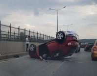 OSMANGAZİ ÜNİVERSİTESİ - Takla Atan Otomobilden Sağ Çıktı