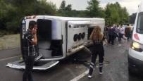 Yolcu Minibüsü Devrildi Açıklaması 10 Yaralı