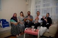 Başkan Özkan'dan Üçüz Bebeği Olan Çifte Ziyaret