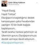 OKTAY KALDıRıM - Elazığspor İçin Sosyal Medyada Kampanya