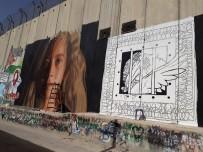 Ahed Tamimi - Filistinli Sanatçılar, Ayrım Duvarı'na 'Cesur Kız' Tamimi'nin Resmini Çizdi
