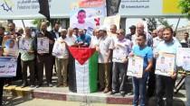 ASKERİ HAKİM - Gazze'de Açlık Grevindeki Filistinli Tutuklulara Destek Gösterisi
