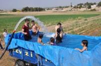 İSMAİL DEMİR - Sıcaktan Bulanan Çiftçilerin Havuz Keyfi