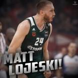 OLYMPIAKOS - Panathinaikos, Matt Lojeski'nin Sözleşmesini 1 Yıl Uzattı