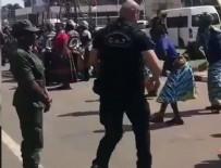 RESMİ KARŞILAMA - Koruma polisinden duygulandıran hareket