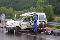 ZİNCİRLEME KAZA - TEM'de Zincirleme Kaza Açıklaması 1 Ölü, 15 Yaralı