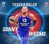 EFES - Anadolu Efes, Sonny Weems'e Veda Etti