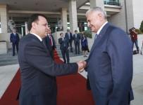 İSMAİL RÜŞTÜ CİRİT - Başbakan Yıldırım'dan Anayasa Mahkemesi Başkanlığına Veda Ziyareti