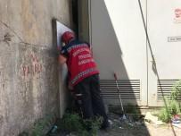 ŞEREFIYE - Duvar İle Trafo Arasına Sıkışan Kediyi İtfaiye Ekipleri Kurtardı