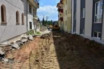 Gediz Belediyesi'nin Beton Parke Ve Bordür Yapım Çalışmaları