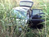Otomobil Sazlığa Uçtu Açıklaması 2 Yaralı