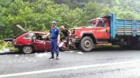 MEHMET KELEŞ - Rize'de Trafik Kazası Açıklaması 1 Ölü, 3 Yaralı