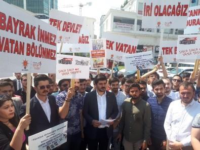 AK Parti Ankara İl Gençlik Kolları, Yargıtay Cumhuriyet Başsavcılığı Önünde Toplandı