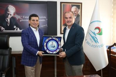 Akdeniz Belediyeler Birliği Başkanı Tütüncü, Başkan Gürlesin'i Ziyaret Etti