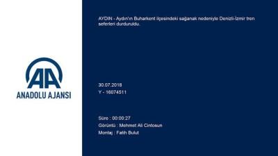 Aydın'da Sağanak Demiryolu Ulaşımını Aksattı