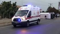 Kaldırıma Çarpan Minibüs Devrildi Açıklaması 2 Yaralı