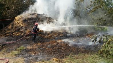 Samanlıkta Çıkan Yangın Ahıra Sıçramadan Söndürüldü