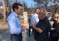 İTFAİYECİLER - Yunanistan Başbakanı Çipras Felaket Bölgesinde