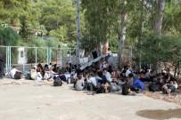 GÖCEK - 30 kişilik tekneden 174 kaçak göçmen çıktı