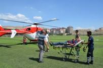 HULUSİ EFENDİ - Beyin Kanaması Geçiren Hastanın İmdadına Hava Ambulansı Yetişti