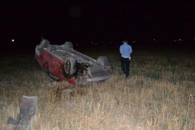 Köpekten Kaçan Sürücü Otomobille Takla Attı Açıklaması 2 Yaralı