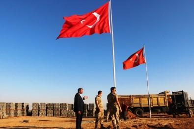 Suriye Sınırına 9. Dev Türk Bayrağı Dikildi