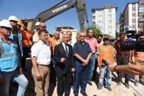 KANALİZASYON ÇALIŞMASI - Başkan Gül Alt Yapı Çalışmalarını İnceledi