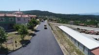 Dursunbey Küçük Sanayi'de Sıcak Asfalt Çalışmaları Başladı