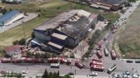 HADıMKÖY - Fabrika Yangınında Son Durum Havadan Görüntülendi